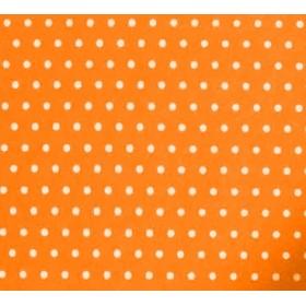 Baskı (Desenli) Keçe Beyaz Puantiyeli Zemin Portakal
