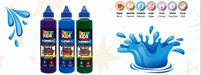 Funny Kids School Paint Okul Boyası